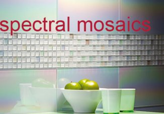 Spectral mosiac glass tiles