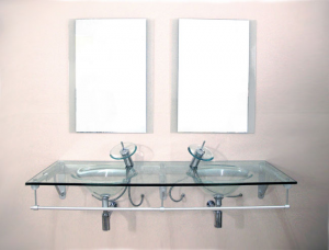 Glass basin and stand